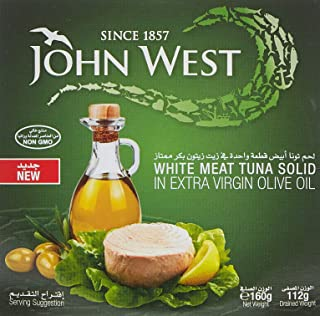 JOHN WEST White Meat Tuna in Extra Virgin Olive Oil, 160 gm