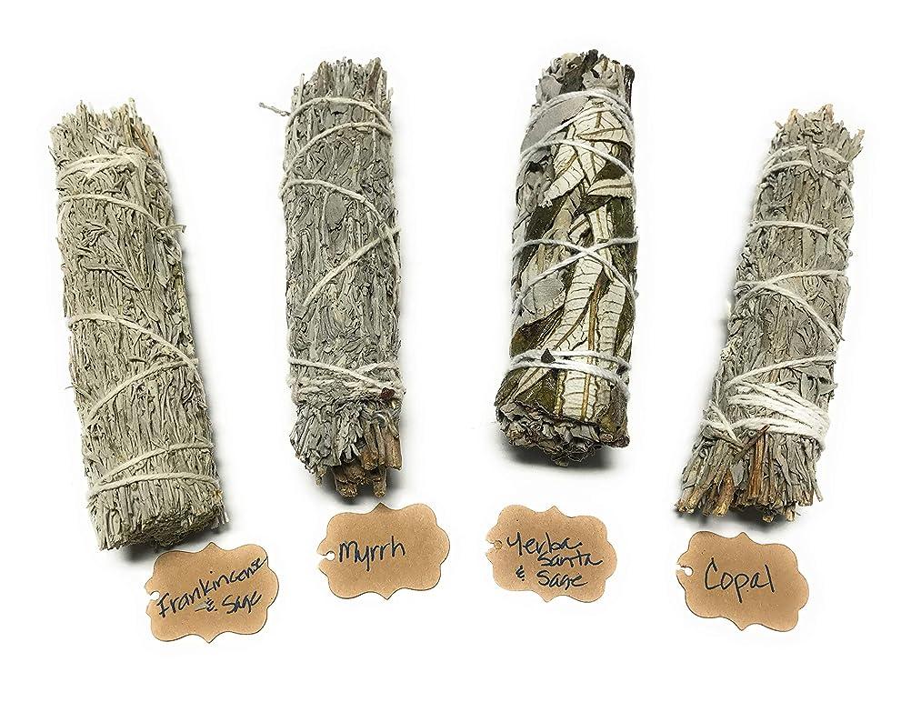 ぺディカブ認証イタリックArianna Willow Mystical バラエティスマッジスティック Copal、Frankincense、Myrrh、Yerba Santaを含む