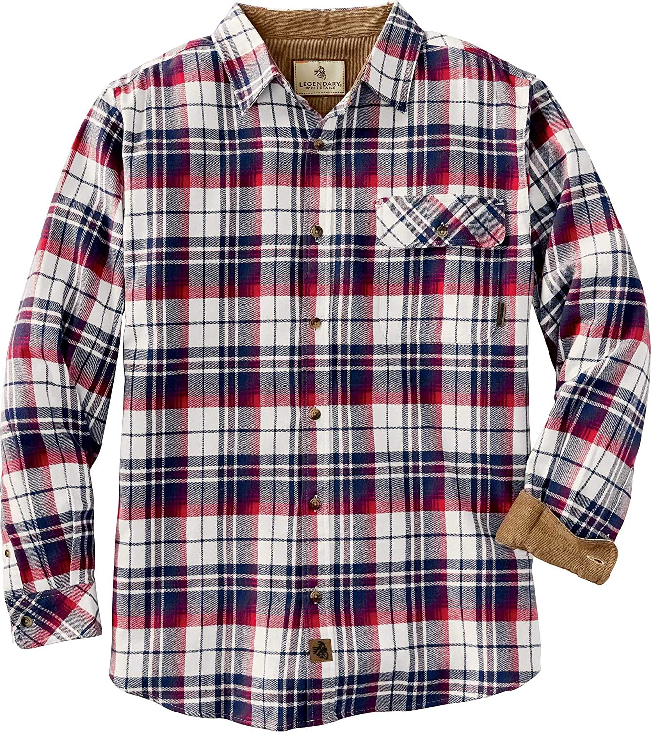 Legendary Whitetails Men's Fixed price for sale Award-winning store Buck Shirt Flannel Camp