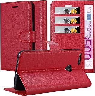 Cadorabo Custodia Libro per ZTE Nubia Z17 Mini in Rosso Carminio - con Vani di Carte, Funzione Stand e Chiusura Magnetica ...