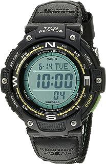 Men's SGW-100B-3A2CF Twin Sensor Digital Display Quartz Black Watch