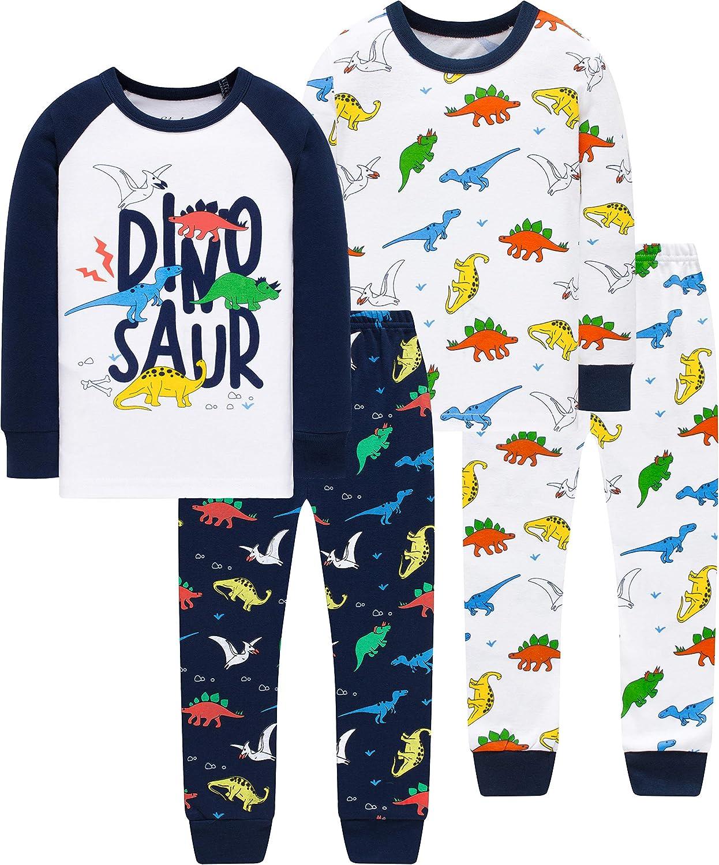 Pajamas Boys Christmas Toddler Kids Dinosaurs Clothes Baby Cotton Pyjamas Set Size 6