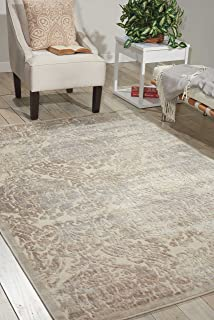 Nourison Graphic Illusions  Ivory Rectangle Area Rug, 7-Feet 9-Inches by 10-Feet 10-Inches (7'9