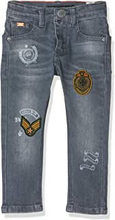IKKS Junior Denim Skinny Blue Grey Patchs Jeans para Niños