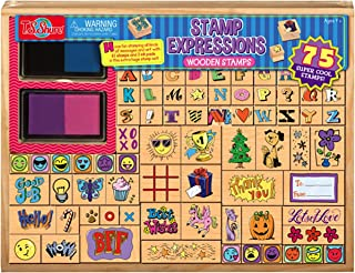T.S Expressions Wooden Stamp Set Shure 75-Pieces