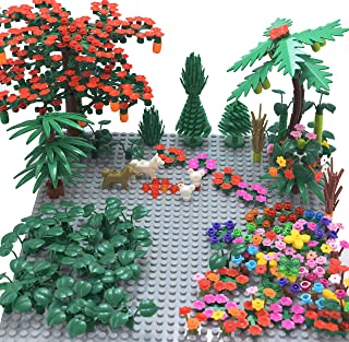 Sawaruita Garden Park Building Block Toy Set,Flower Botanical Scenery Accessories 450 + ,  Compatible All Major Brands(Including 2Pack of 5