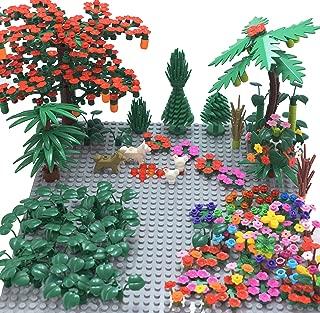 Sawaruita Garden Park Building Block Toy Set,Flower Botanical Scenery Accessories 450 + , Compatible All Major Brands(Including 2Pack of 5