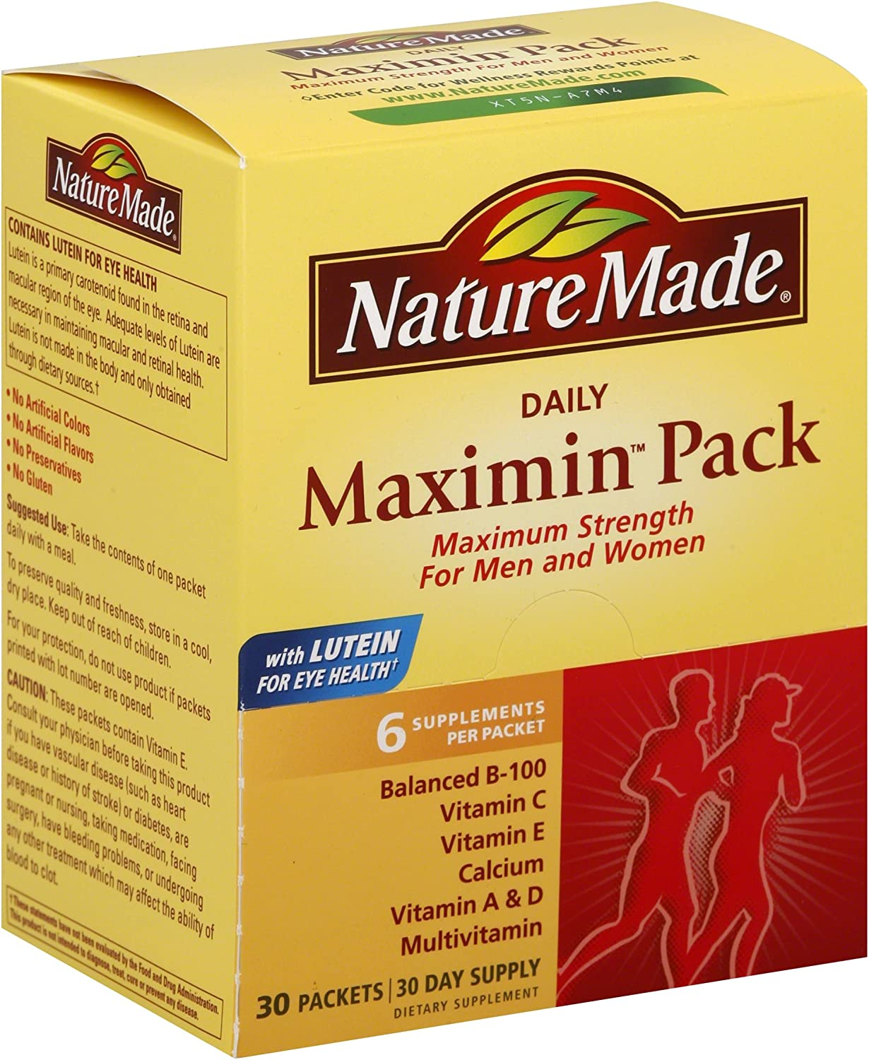 Nature Made Maximin Pack 30 Limited Superlatite Special Price 2 of Packets