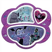 Zak Designs VMPA-0010 Disney Jr. Kids Divided Plates, Vampirina & Gregoria