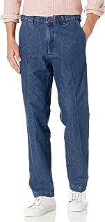 Men's Pleat & Flat Front Denim - Regular and Big & Tall...