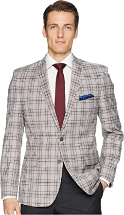 Plaid Slim Fit Sport Coat