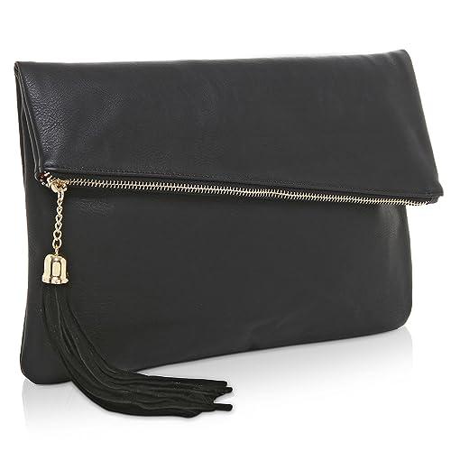 sells good out x purchase original Large Black Clutch Purse: Amazon.com