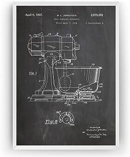 Mélangeur De Cuisine 1937 Affiche De Brevet - Kitchen Mixer Impressions Prints Art Coutellerie Patent Posters Cuisson Post...