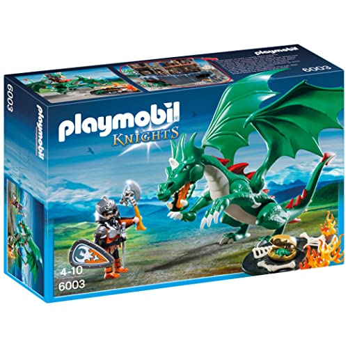 Playmobil - 6003 - Jeu De Construction - Chevalier + Grand Dragon
