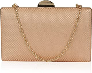 Kleio Designer Party Box Clutch with Sling for Women/Girls