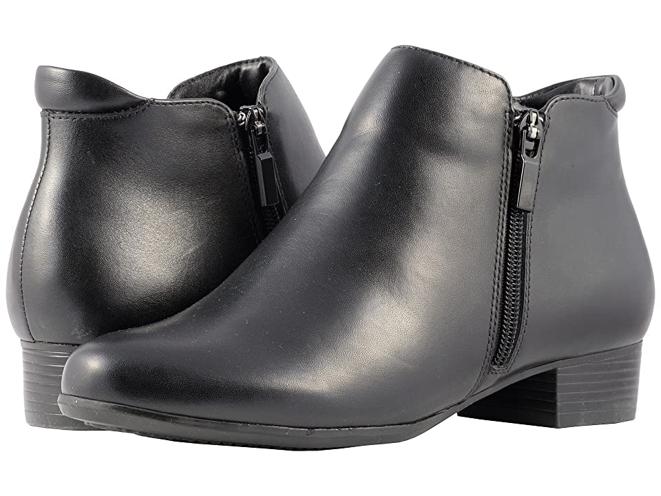 Trotters Major (Black Smooth Leather) Women