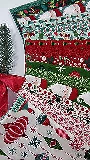 Kringle and Claus Basic Grey Vintage Christmas Fabric Moda Fabrics ~ 15 Fat Quarters Bundle 3.75 Yards