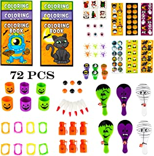 Neliblu Halloween Toys Party Favors Mega Assorted Halloween Trick or Treat Bag Fillers, Halloween Toys and Novelties, Goody Bag Fillers, Pinata Fillers 72 Halloween Toy Assortment by
