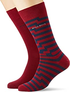 BOSS Men's 2P RS Stripe CC Dress Sock