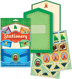 eeBoo Camp Out Fold-to-Mail Stationary Set for Kids
