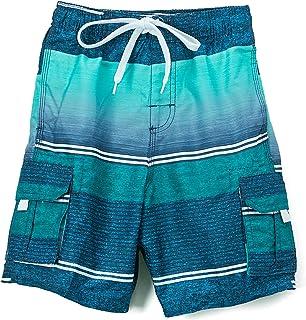 Kanu Surf Boy's Sandbar Stripe Quick Dry Beach Board Shorts Swim Trunk