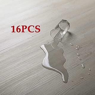 16 PCS 24 Square Feet, CO-Z Odorless Vinyl Floor Planks Adhesive Floor Tiles 2.0mm Thick, Environmental-Friendly (Beige)