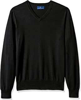 Amazon Brand - BUTTONED DOWN Men's Supima Cotton Lightweight V-Neck Sweater