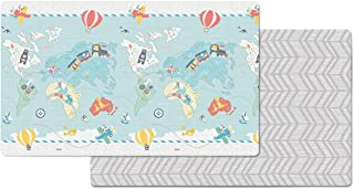 "Skip Hop Little Travelers Reversible Waterproof Foam Baby Play Mat, Multi Colored, 86"" X 52"""