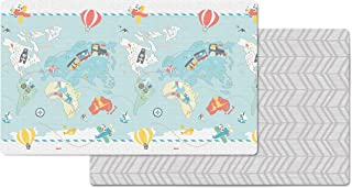 Skip Hop Little Travellers/Herringbone Print Doubleplay Reversible Playmat, Multicolor,