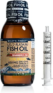 Wiley's Finest Beginner's Strawberry/Watermelon EPA/DHA Omega-3 Fish Oil for Toddlers 50 Servings
