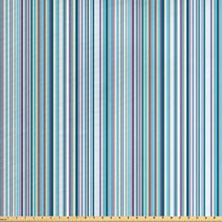 Lunarable Striped Fabric by The Yard, Simplistic Pattern with Vertical Stripes in Pastel Colors Modern Design, Decorative Fabric for Upholstery and Home Accents, 1 Yard, Lavender Cream