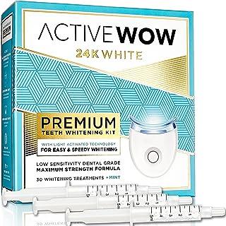 کیت سفید کننده دندان Active Wow با لامپ LED 36 درصد به همراه کاربامید پراکسید