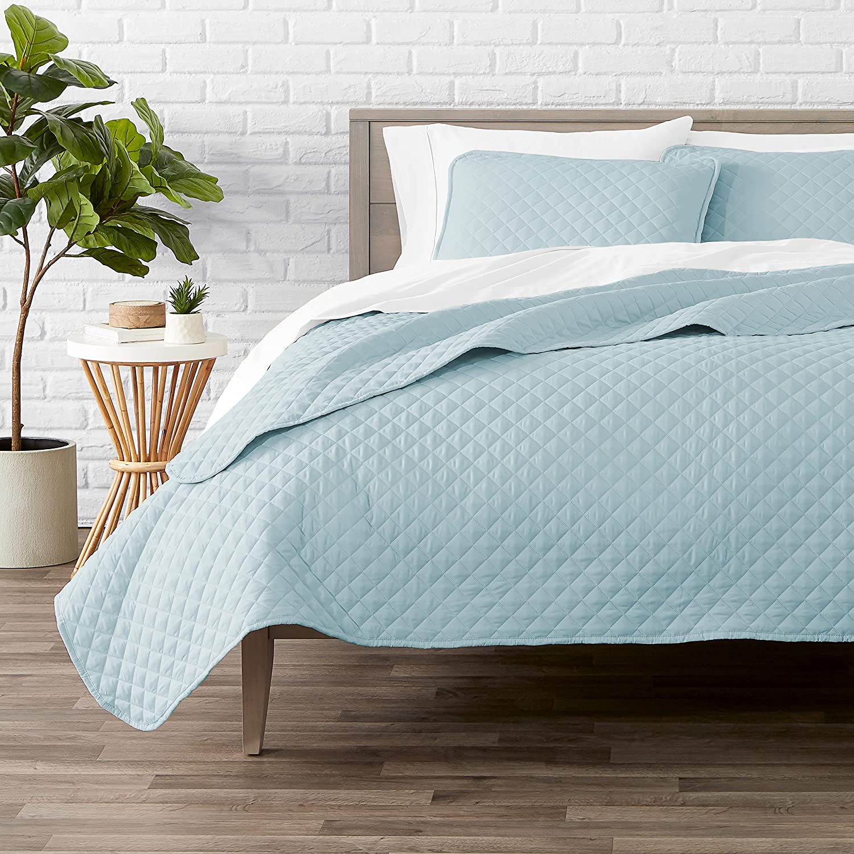 Virginia Beach Mall Bare Home Trust Premium 3 Piece Coverlet Diamo Full - Size Queen Set