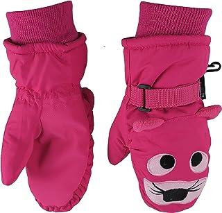N'Ice Caps Little Kids Cute Animal Faces Waterproof Warm Winter Snow Mittens