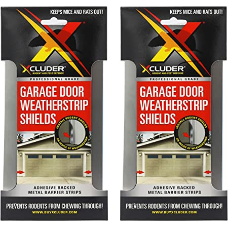Chocolate Double Car Garage Door Stop Sides and Top 2 Inch Weather Seal Any Size All Color