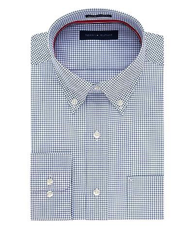 Tommy Hilfiger Dress Shirt Regular Fit Non Iron Gingham
