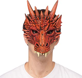 Adult Sized Rubber Dragon Mask Fits Men & Women - Assorted Colors - One Size Fits All - Perfect for Halloween Cosplay