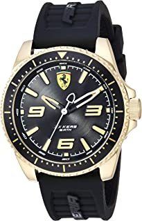 Ferrari Mens Quartz Watch, Analog Display and Silicone Strap 830485