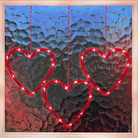 NEW Lighted  Valentine/'s Day ARROW HEART Window Door Decor Indoor Outdoor