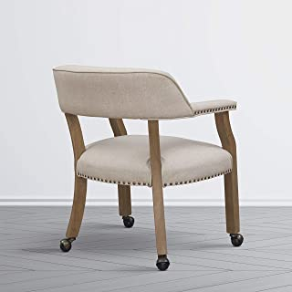 Greyson Living Morrison Caster Game Chair by Beige Sand