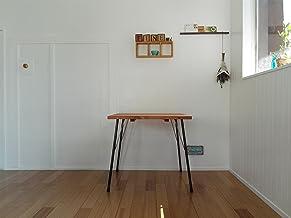 ハンドメイド アイアンテーブル70x80鉄脚 カフェスタイル (ダークブラウン)