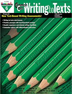 Newmark Learning Grade 6 Common Core Writing to Text Book (CC Writing)