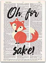 Oh For Fox Sake!, Dictionary Print, 8x11 inches, Unframed