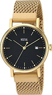 Vestal 'Sophisticate 36 Metal' Swiss Quartz Stainless Steel Dress Watch, Color Gold-Toned (Model: SP36M02.MGDM)