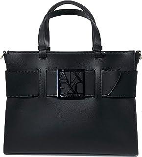 ARMANI EXCHANGE Handtasche mit abnehmbarem Schultergurt Damen Farbe Schwarz - Bordeaux