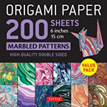 """Origami Paper 200 sheets Marbled Patterns 6"""" (15 cm): Tuttle Origami Paper: High-Quality Double Sided Origami Sheets Print..."""