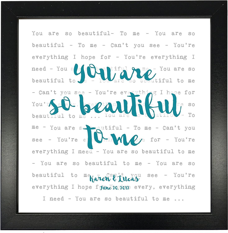 Joe Cocker, You are So Beautiful   Typography Song Lyrics Print ...