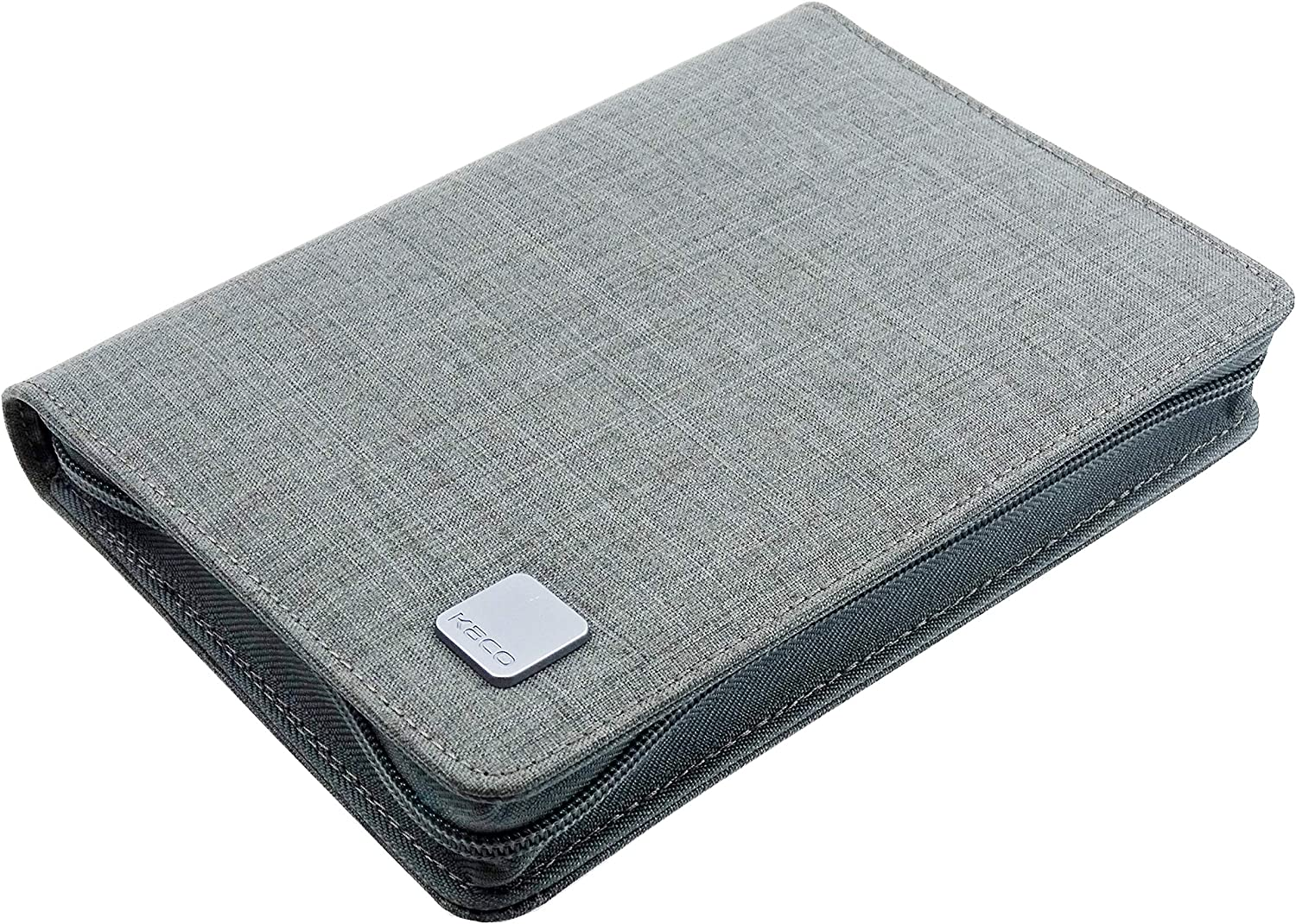 New Shipping Free Classic 10 Slots Fountain Pen Case Holder Gray Di Canvas Waterproof