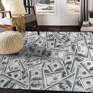 ALAZA Funny Dollar Money Area Rug Rugs for Living Room Bedroom 5'3