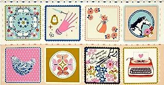Cotton + Steel Beauty Shop Hankie 23.5in Panel Peach Fabric